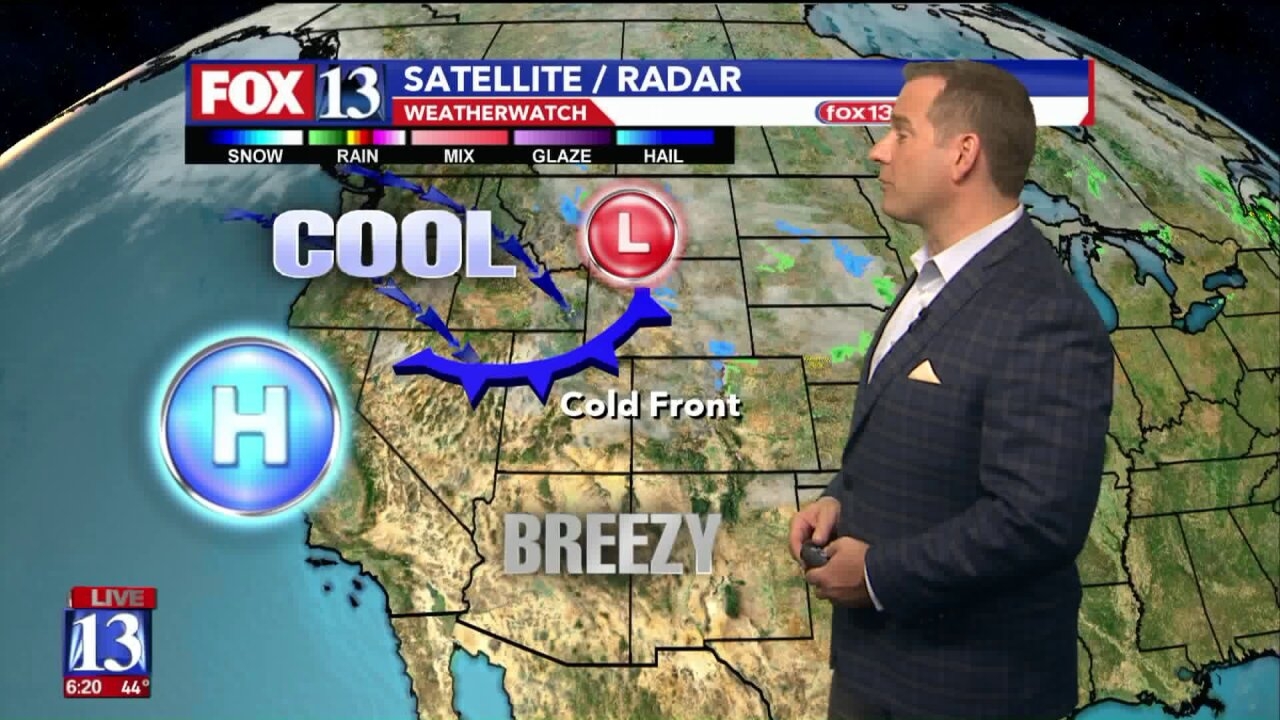 Cold front arriving in Utah Wednesday will lower temps, but warmer weather expected thisweekend