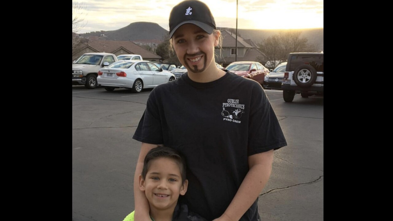 Utah single mom dresses as dad to attend 'Dads and Doughnuts Day'