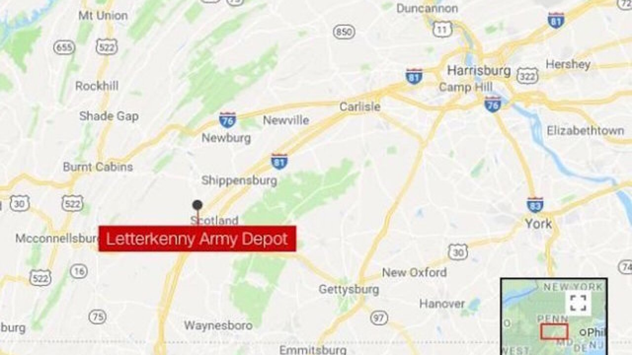 3 airlifted to hospitals after blast at Pennsylvania Army depot