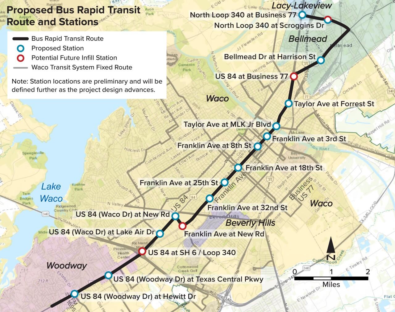 BRT BUS STOPS
