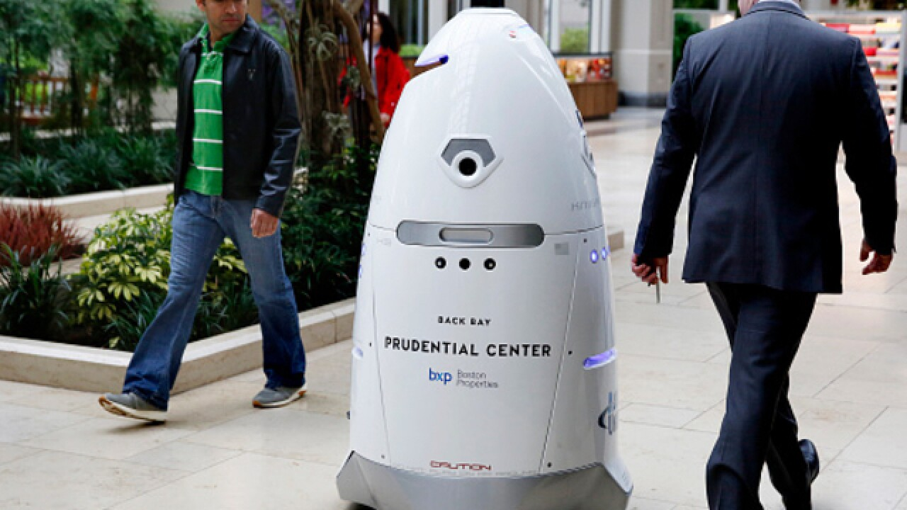 Suicidal security robot finds watery grave in Washington office building's fountain