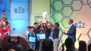 For the first time in Scripps Spelling Bee history, 8 champions are named!