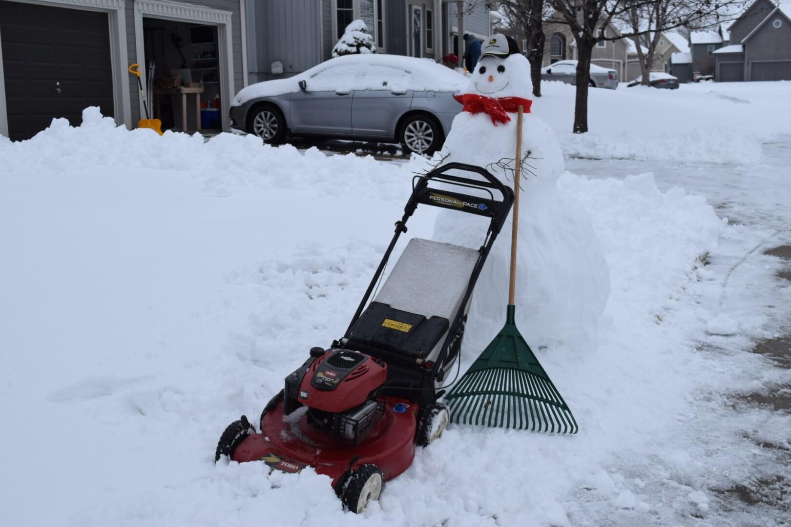 Snowman in the yard.JPG