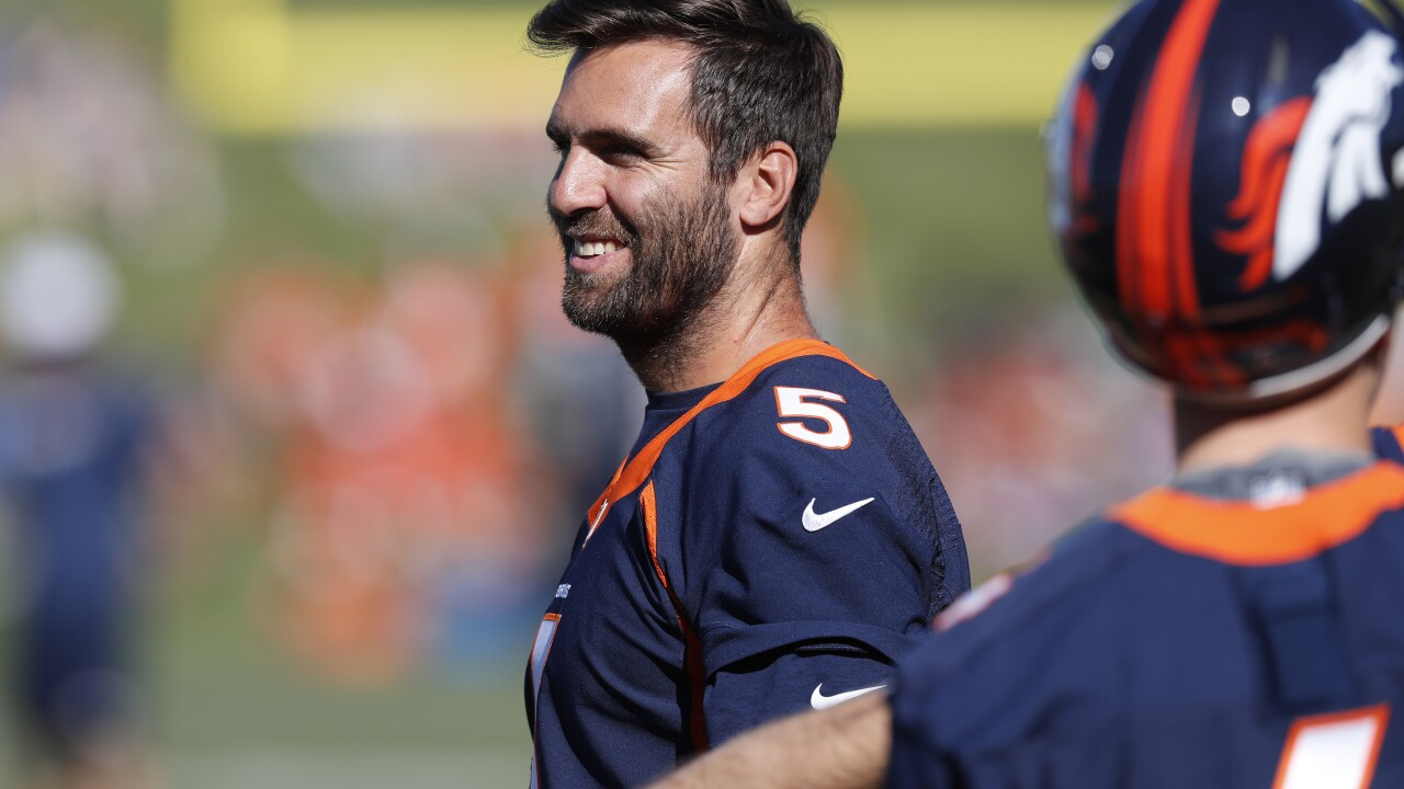 Denver Broncos Quarterback Joe Flacco