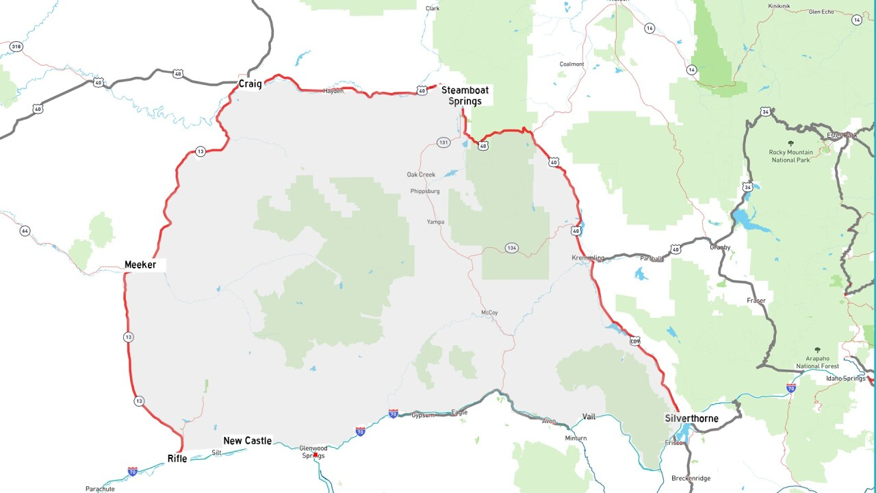 Alternate route for Glenwood Canyon eastbound closure for repairs