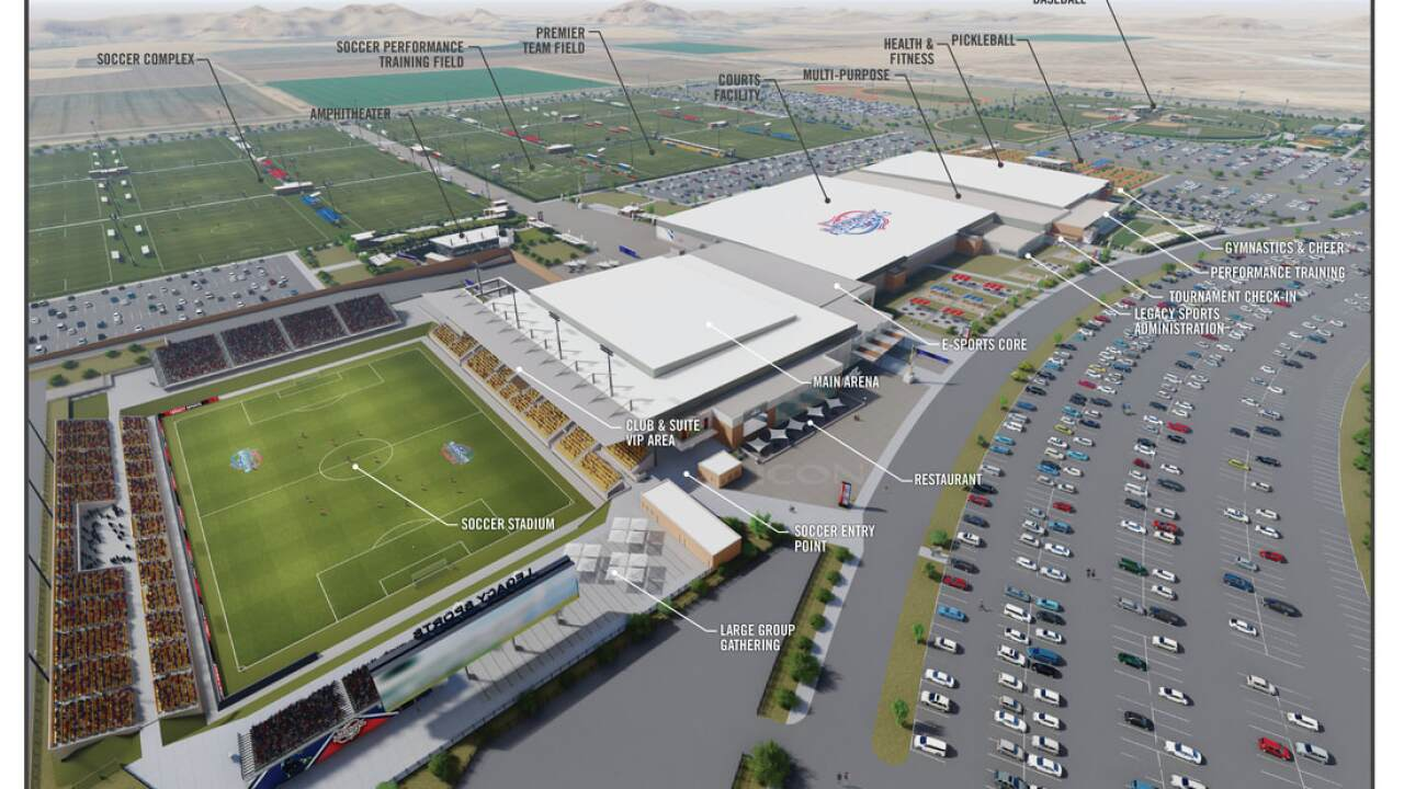 Legacy Sports Park Mesa - concept rendering 1