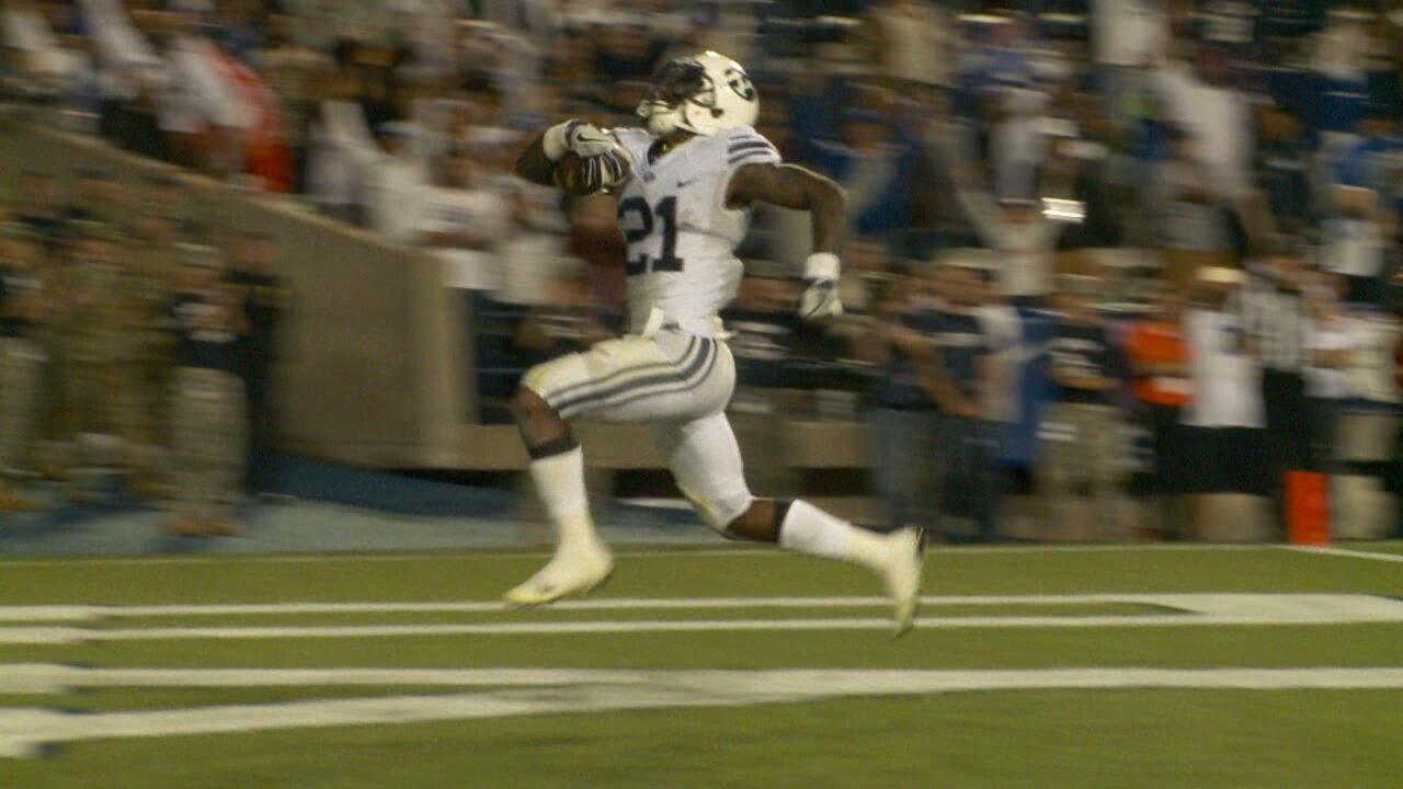 Williams finds end zone five times as BYU beats Toledo 55-53
