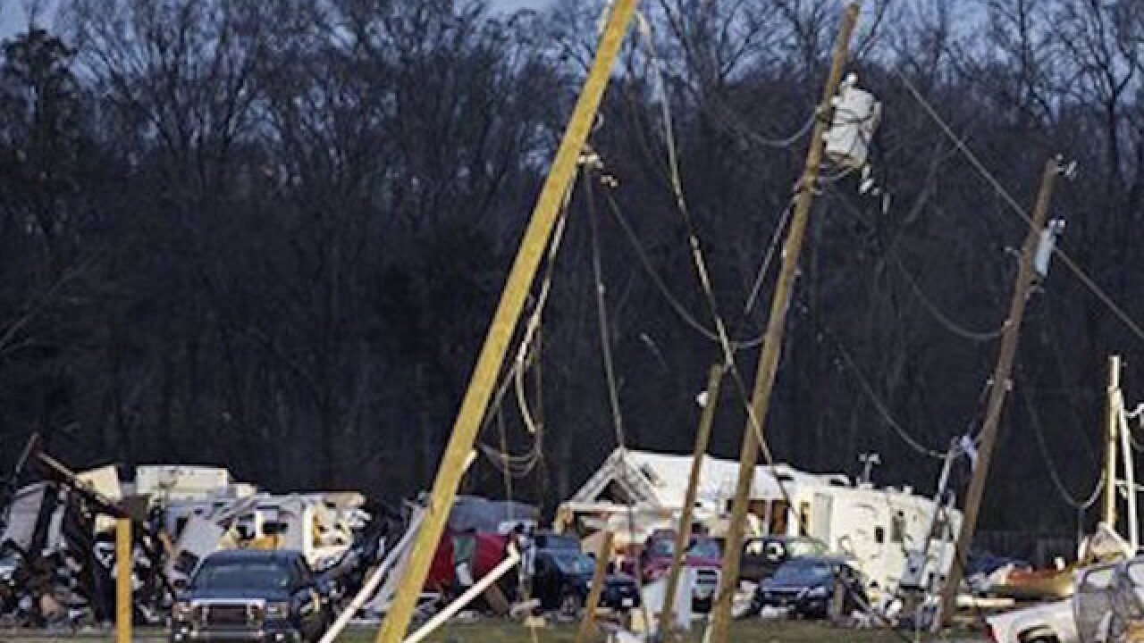 Death toll from southern storms up to 5