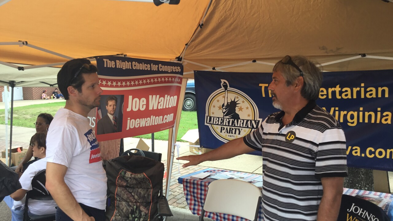 Why Virginia's Libertarian candidates struggle to be both seen and heard