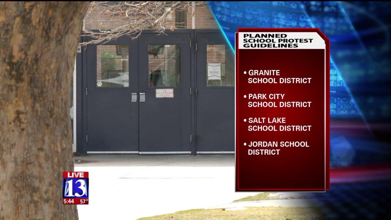 Utah schools make plans to handle studentwalkouts