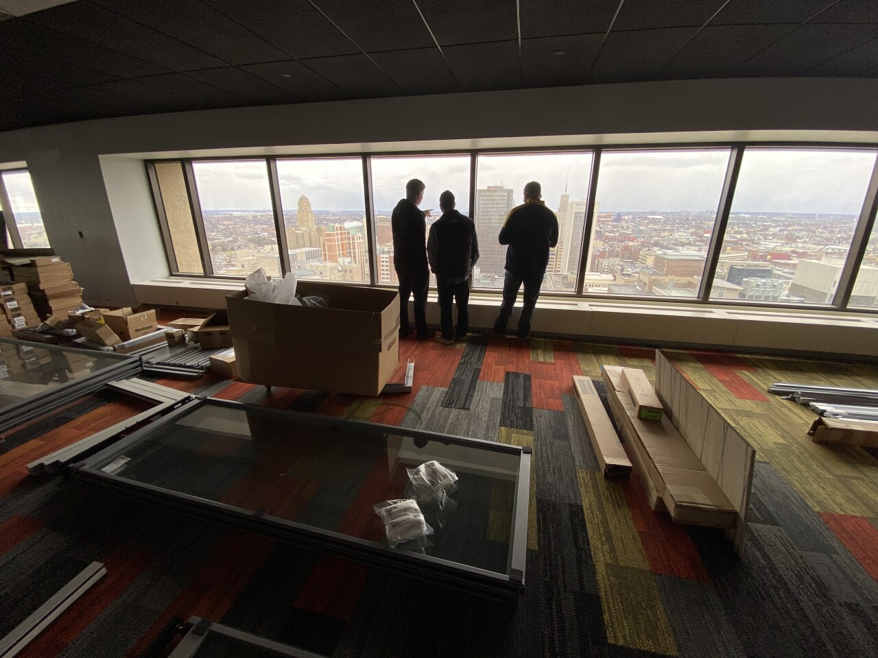 24th floor of Seneca One tower which will be the new headquarters for 43 North.