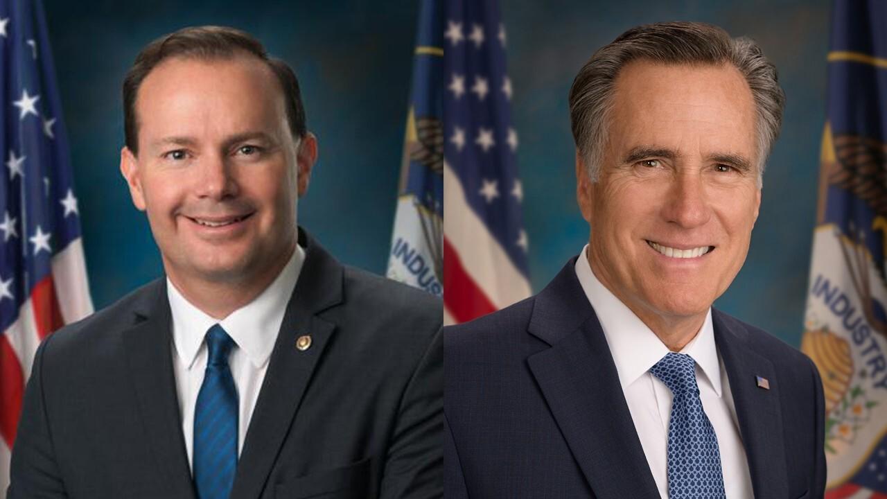 U.S. Senators Mike Lee and Mitt Romney