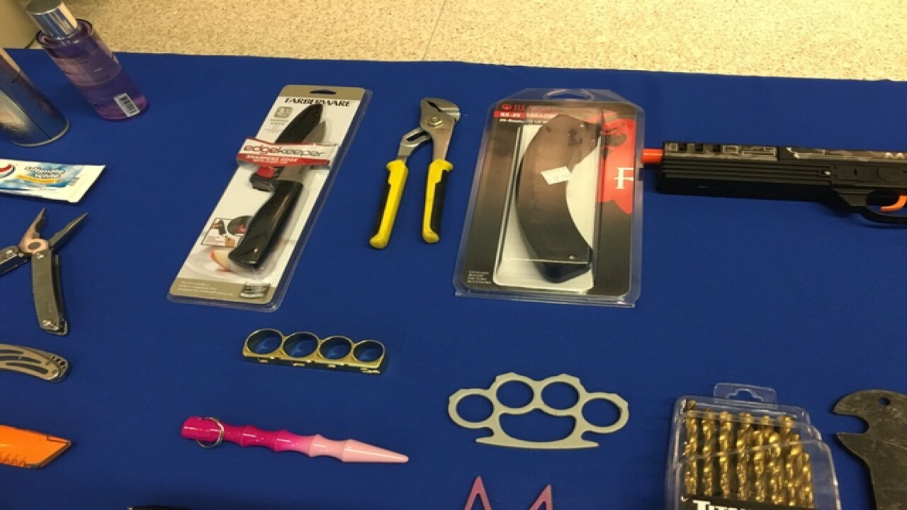 PHOTOS: Collection of items confiscted by TSA