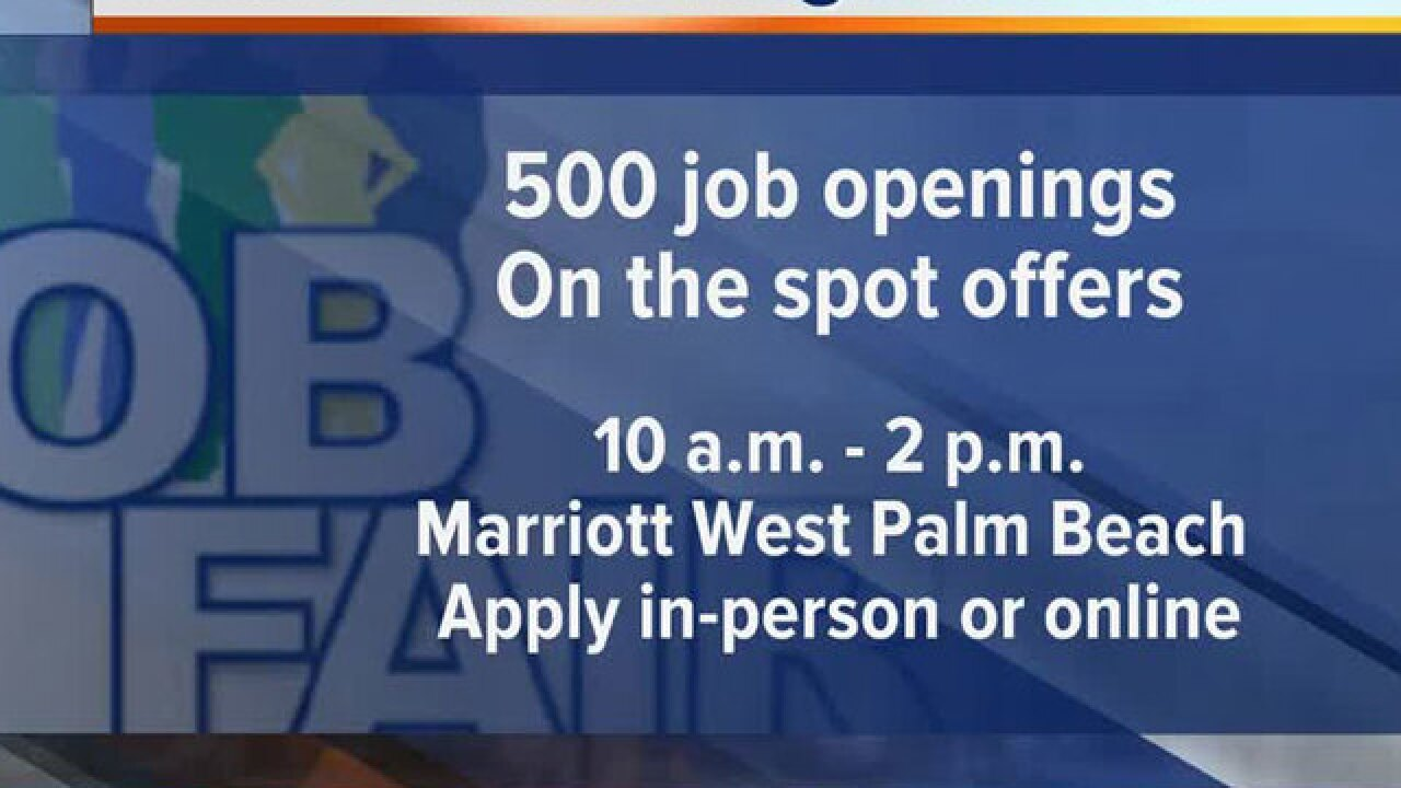 Job fair Wednesday at West Palm Beach Marriott