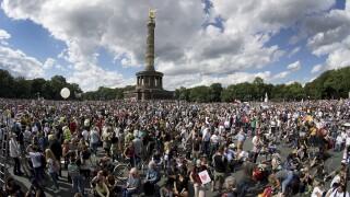 APTOPIX Virus Outbreak Germany Protests