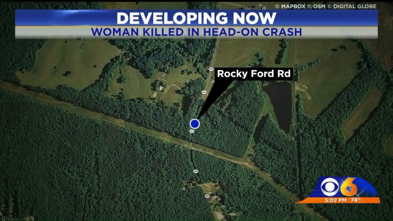 21-year-old woman killed in Nottoway head-on crash