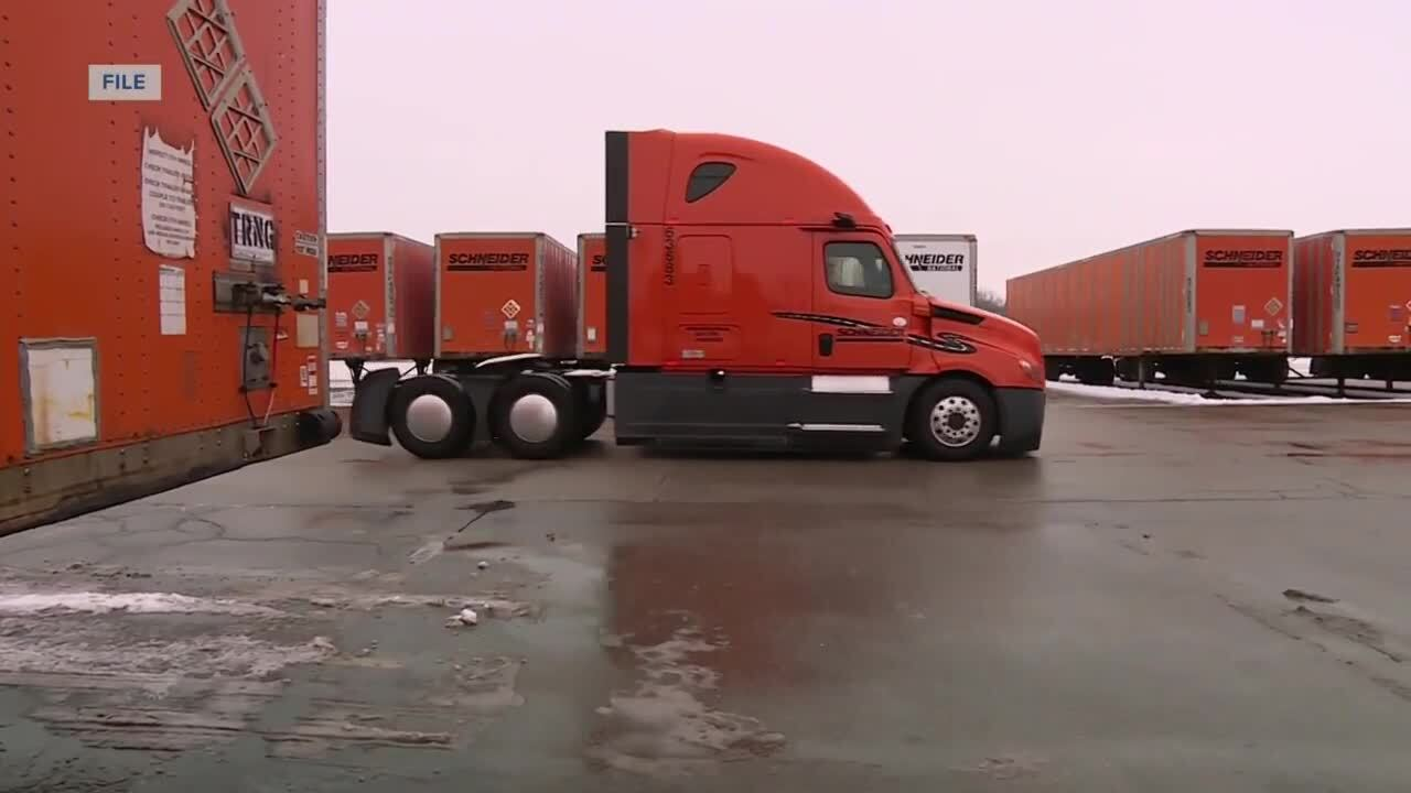 Winter weather conditions creating challenges for local trucking company