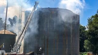 Firefighters battle fire in grain silo in Zephyrhills