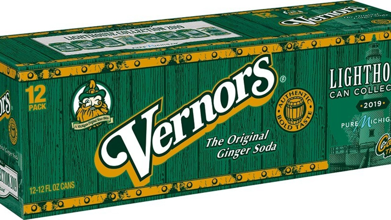 Vernors Ginger Soda Michigan lighthouses