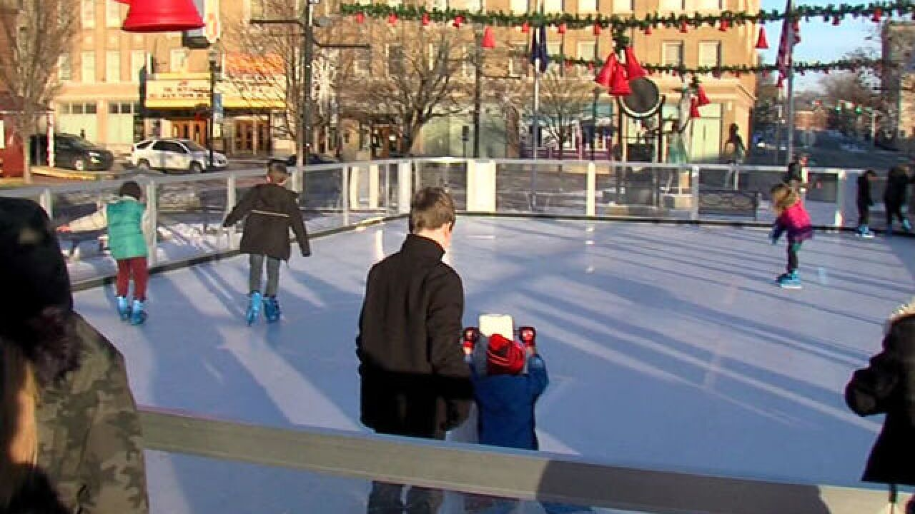 Anderson installs temporary synthetic ice rink
