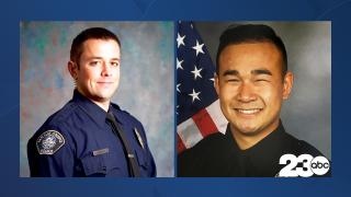San Luis Obispo Police Det. Luca Benedetti, Stockton Police Department shows officer Jimmy Inn