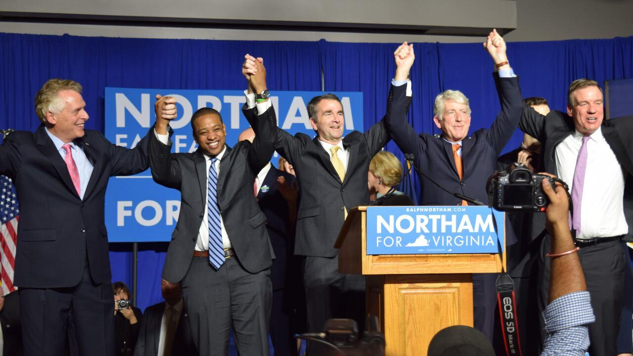 Virginia Democrats celebrate Northam victory, partysweep