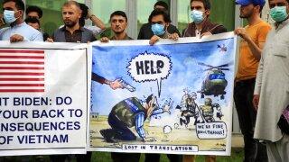 Evacuating Afghans