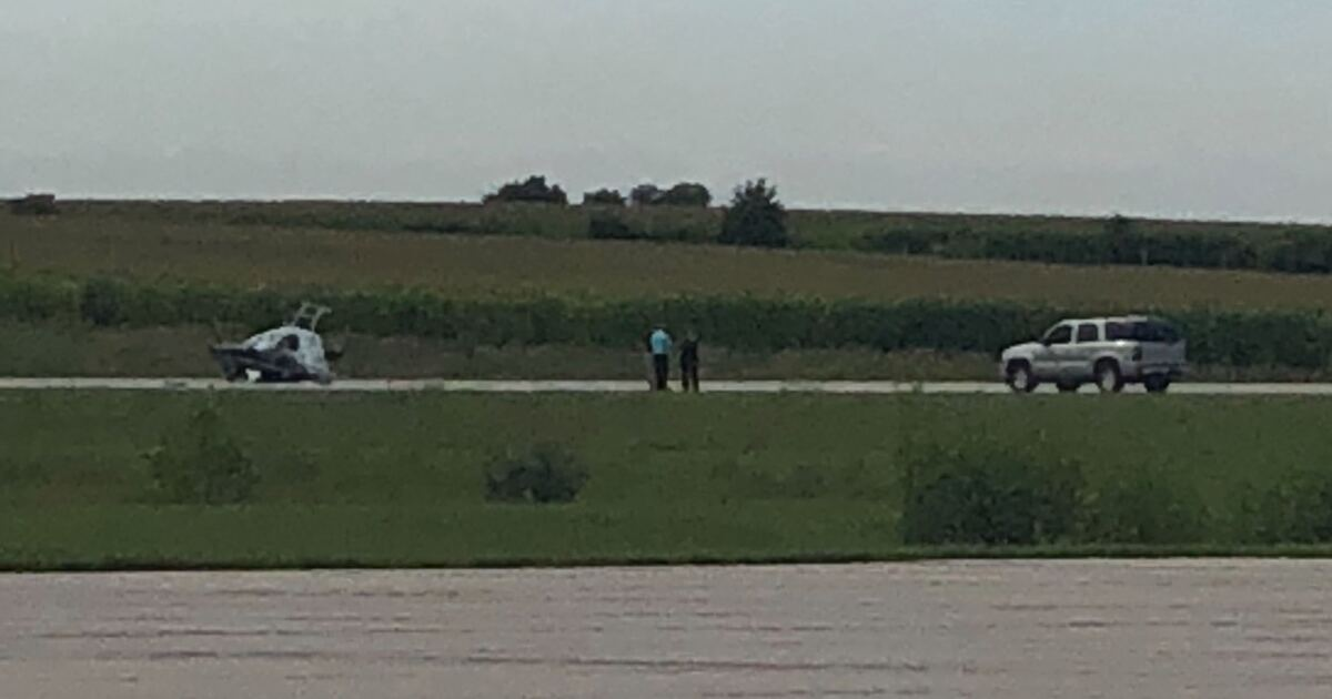 OPD helicopter crashes at Blair Airport