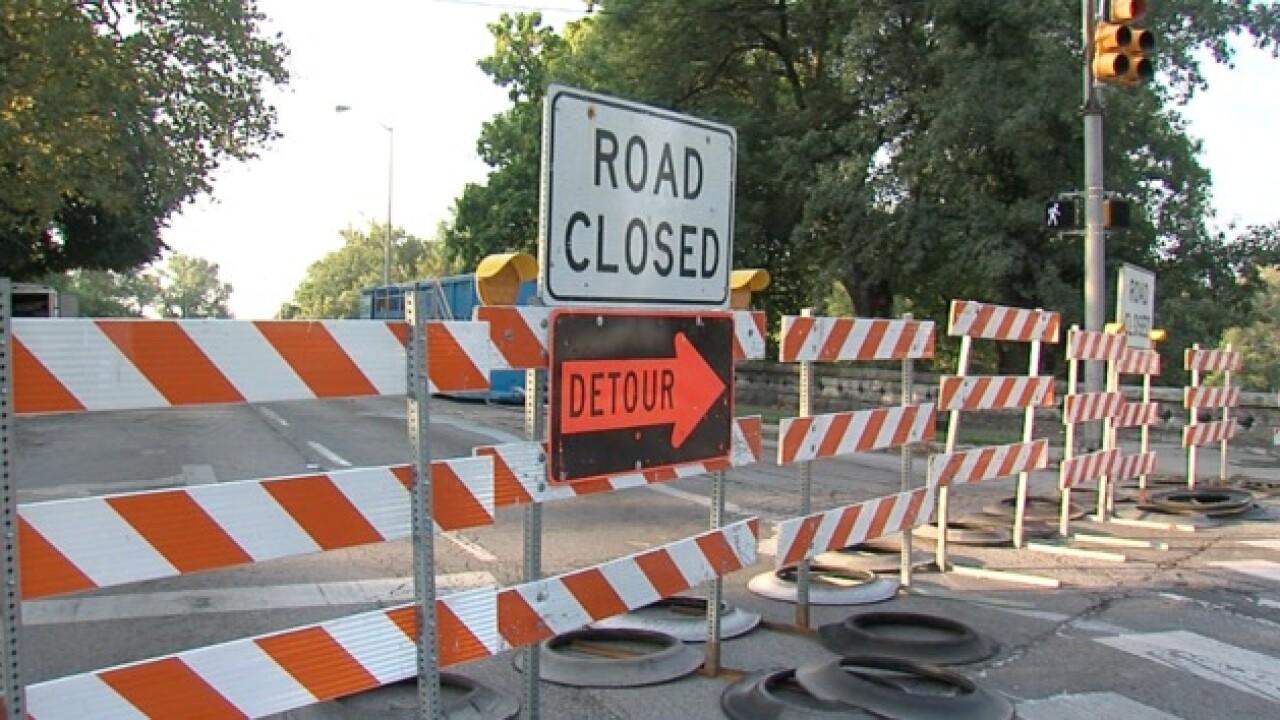 Bridge closure creates congested commute
