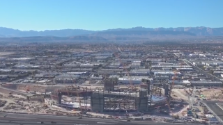 Raiders stadium construction taking shape