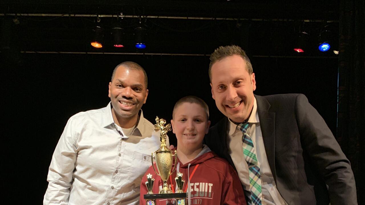 Frank Salzeider, 12, spelling bee winner