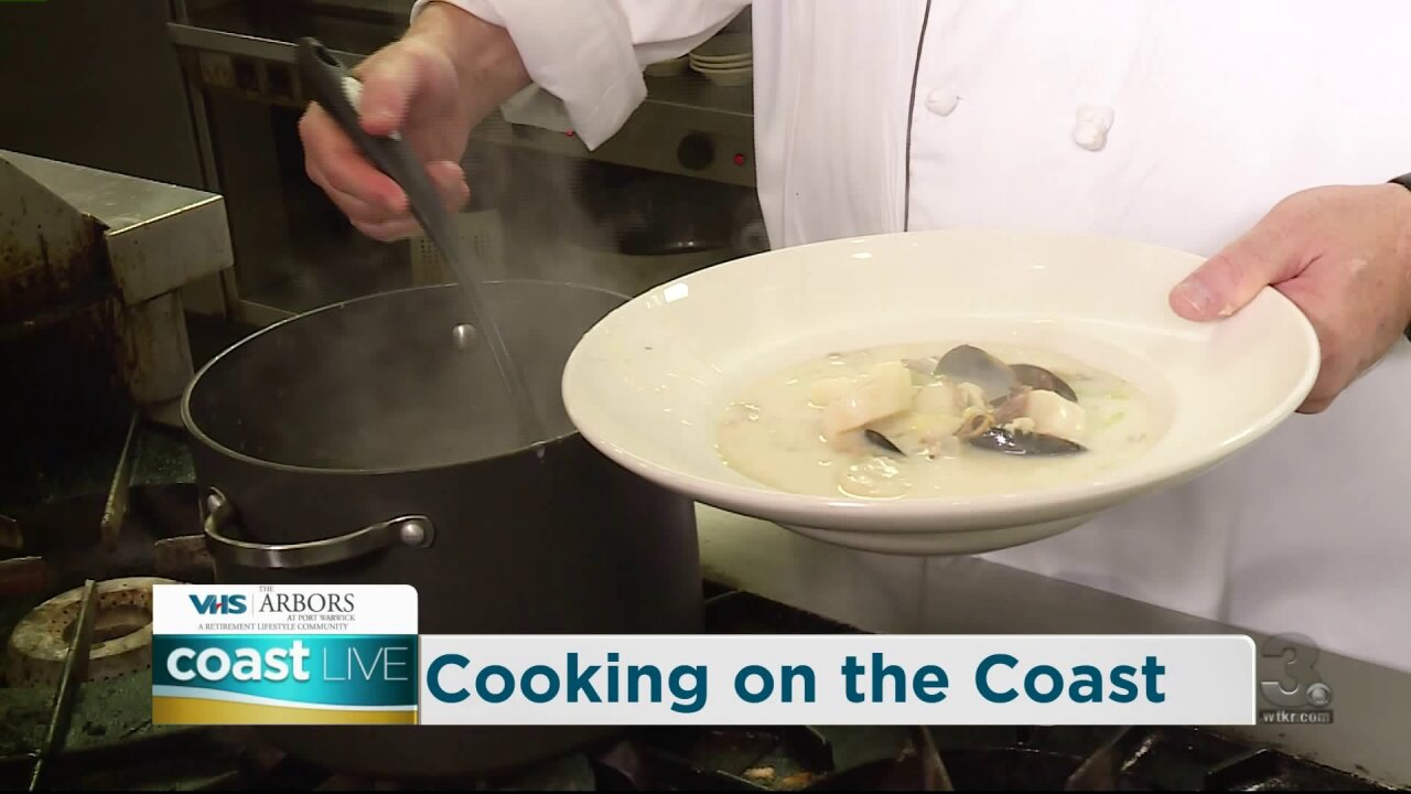 Cooking up a New England Seafood Chowder on Coast Live