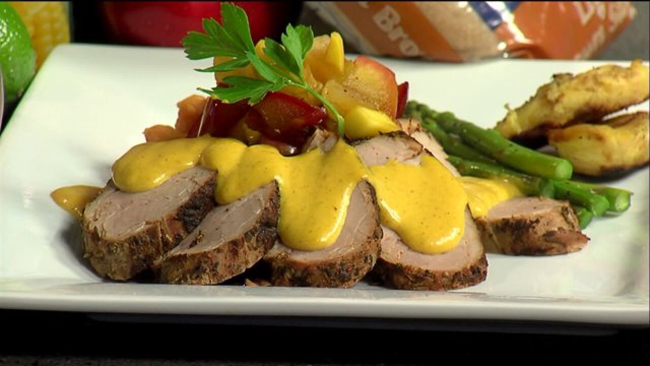 Pork Medallions with Citrus Butter and Mango Chutney recipe