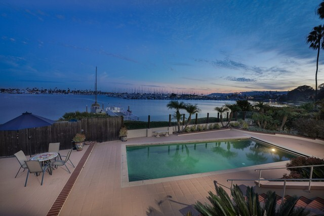 Point Loma home has boat dock and bay views