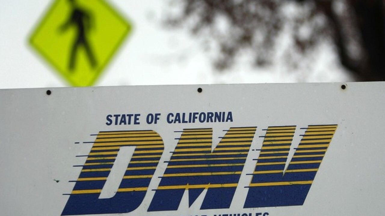 California DMV warning about unofficial websites charging fees
