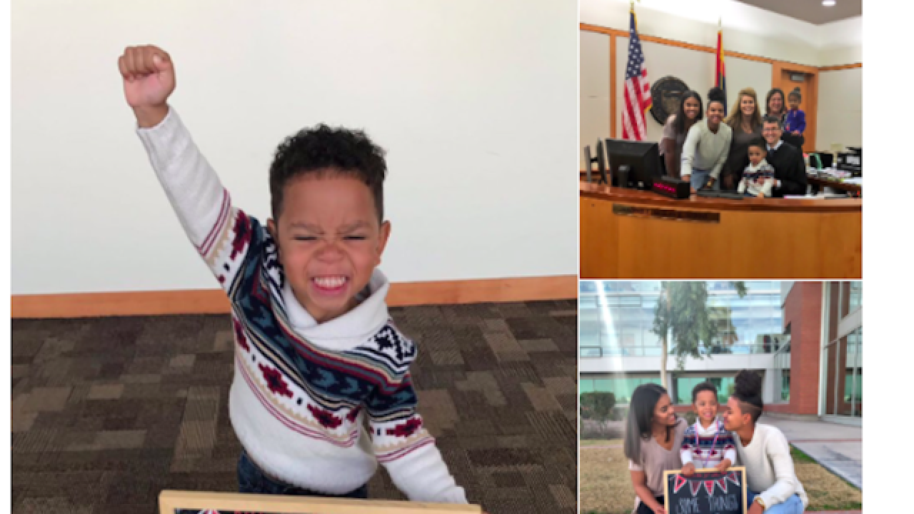 3-year-old's adoption joy caught in viral photo