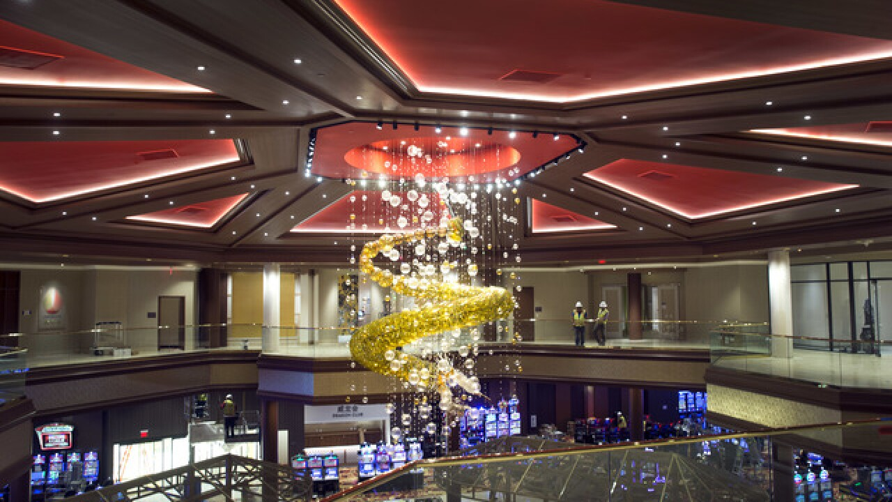 Dragon chandelier installed at Lucky Dragon