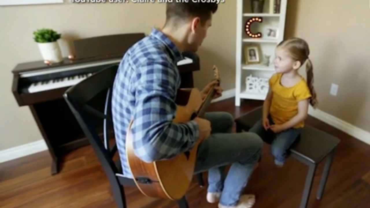 Adorable daddy-daughter duo will melt your heart with sweet songs