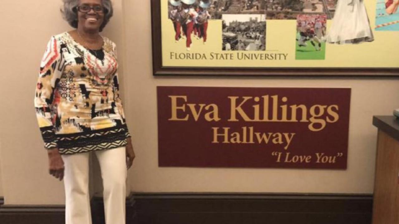 FSU Honors Cashier Eva Killings with Hallway Dedicated to Her