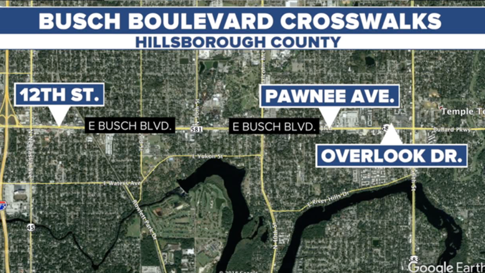 Busch Blvd Map