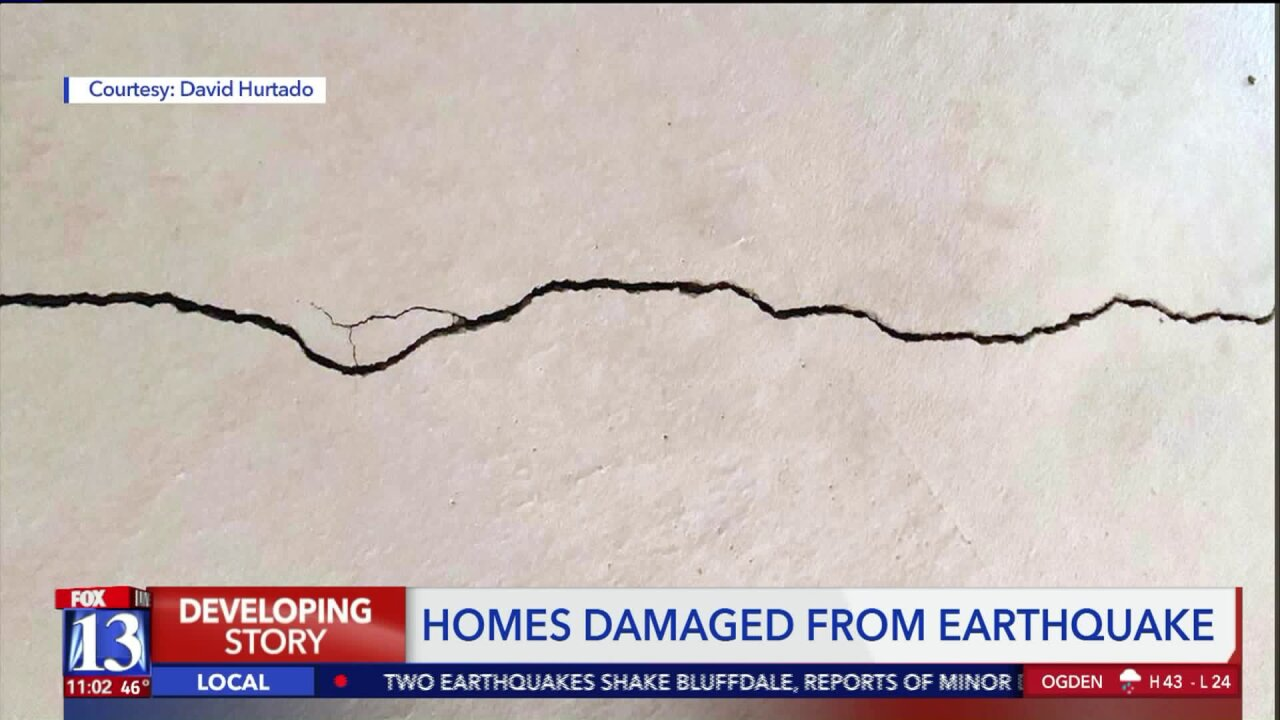 Minimal damage after pair of earthquakes hit nearBluffdale