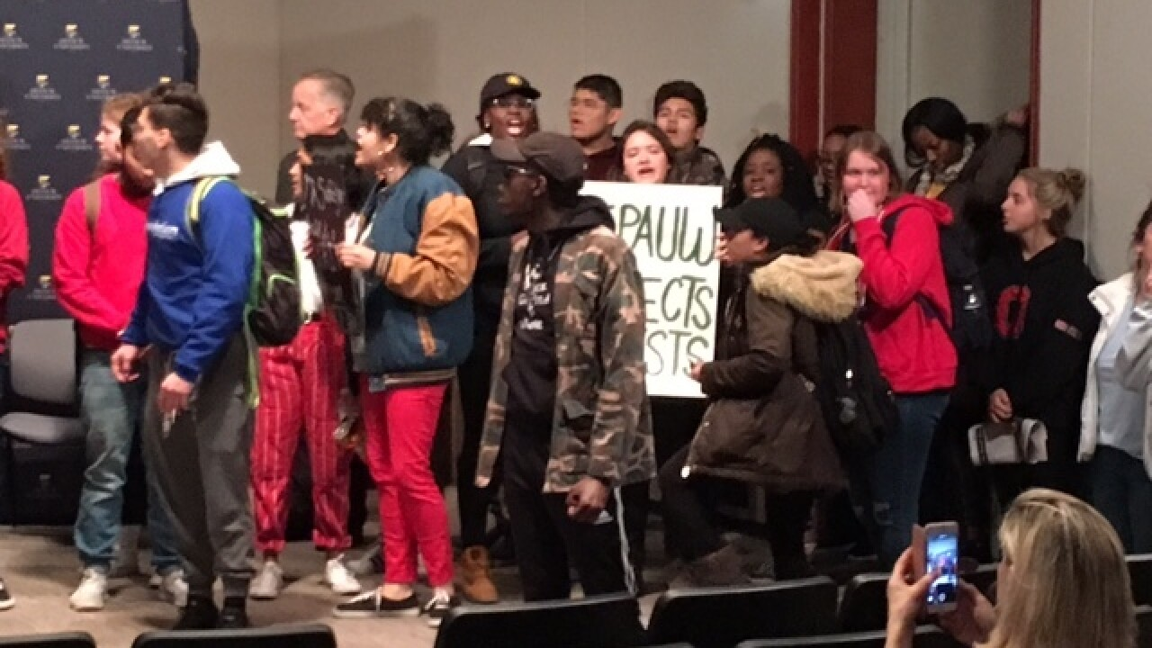 Protesters interrupt event featuring TV star