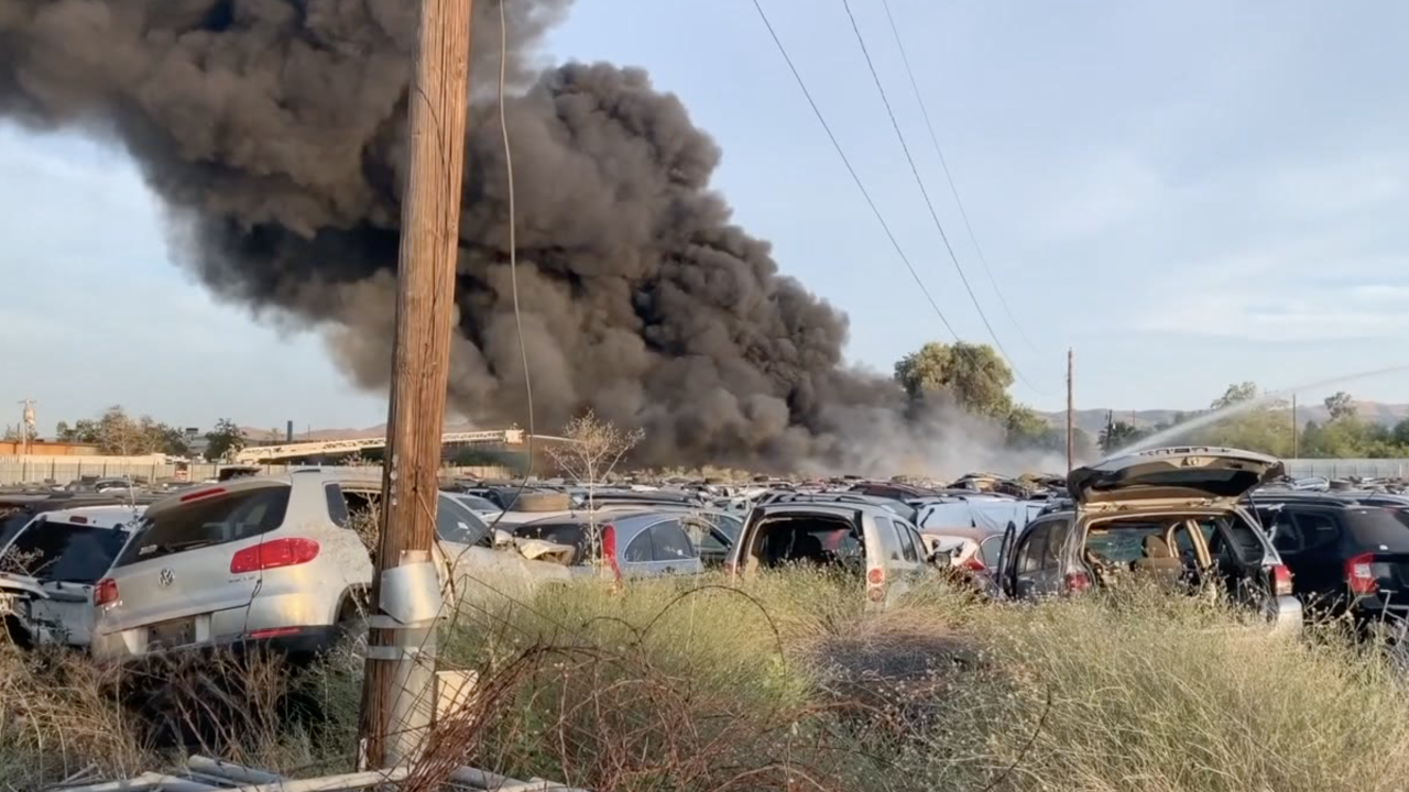 Scrapyard fire in Phoenix