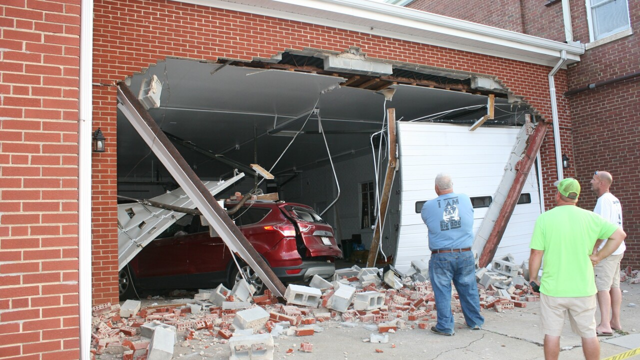 SUV slams into Virginia fire department, causes 'extensive damage'