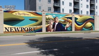 General James Taylor mural Newport