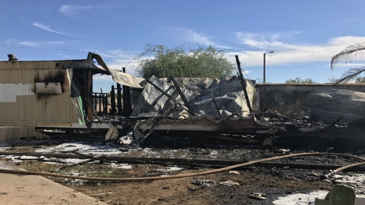 FD: Multiple mobile homes on fire in Phoenix