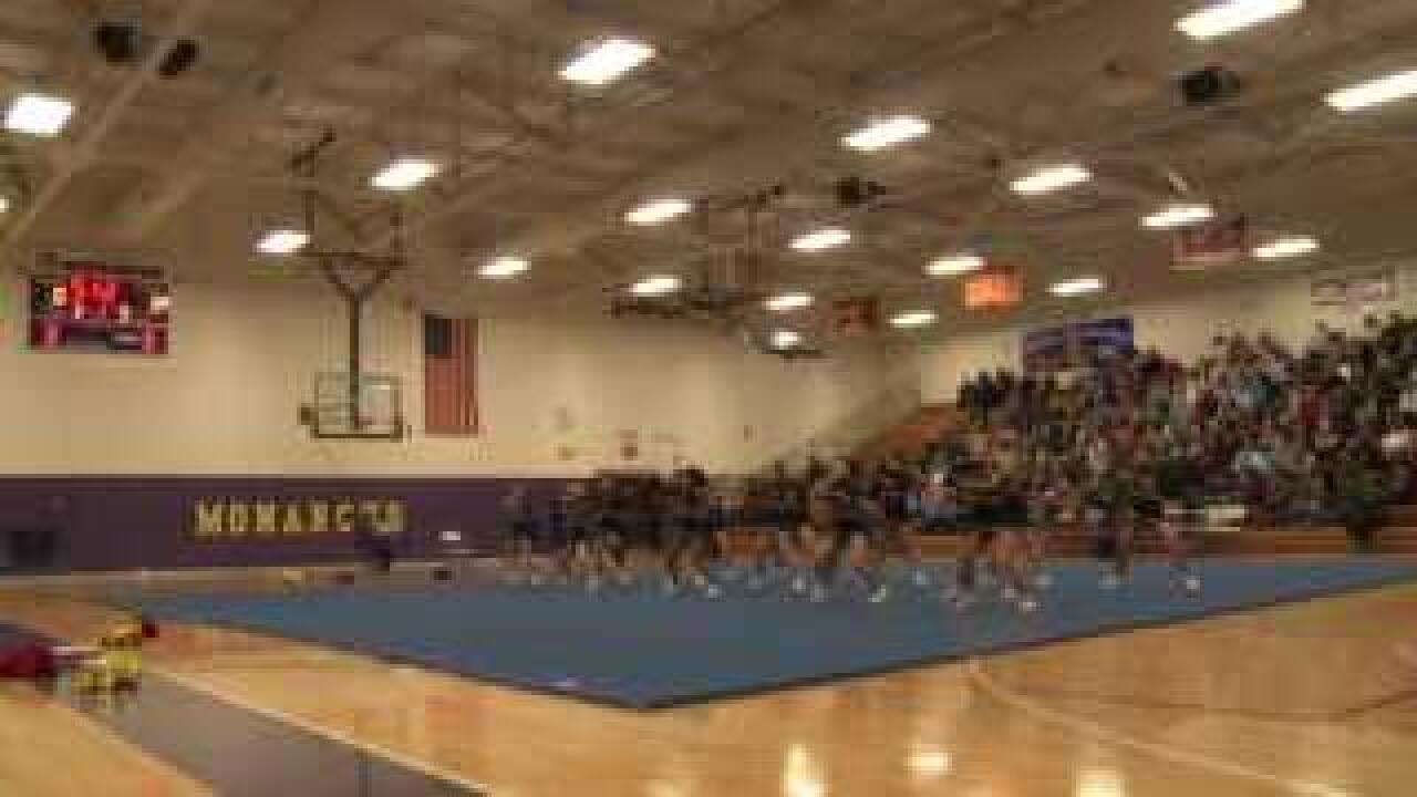 Gloucester High School cheer squad competes in VHSL Region One Competition