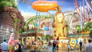 An artist's rendition of the interior of the Nickelodeon Universe theme park set to open in New Jersey.