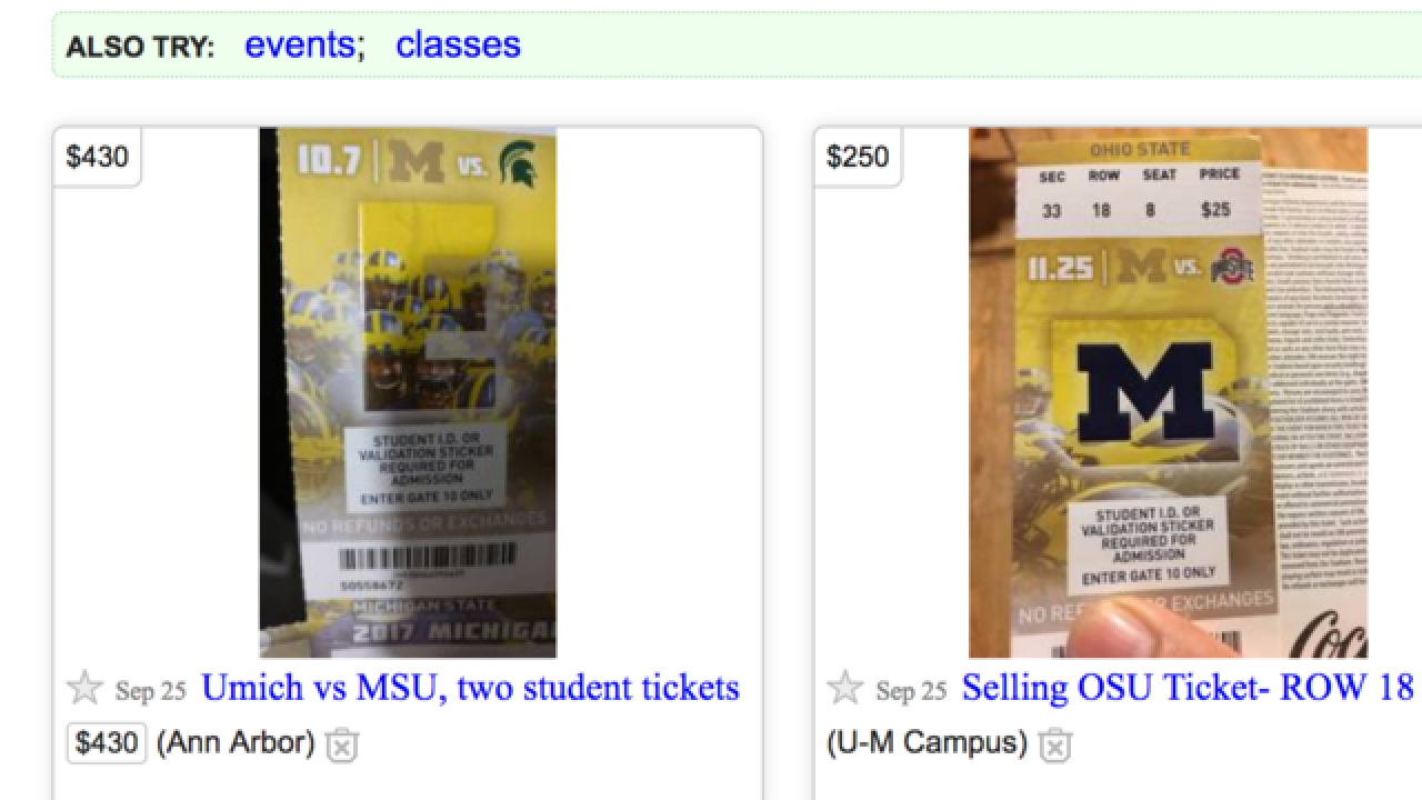 University warning fans about fake tickets ahead of MSU vs
