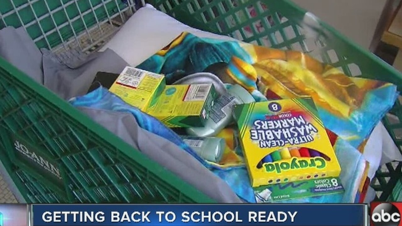 FREE school supplies are available at the Back to School